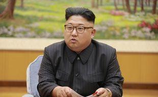Kim Jong-Un, dirigeant de la Corée du Nord, participe à une réunion le 3 septembre 2017.