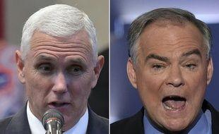 Mike Pence et Tim Kaine sont les deux candidats à la vice-précsidence de l'élection présidentielle américaine prévue le 8 novembre 2016.