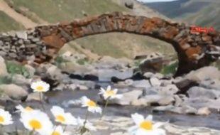 Le pont vieux de  300 ans du village d'Arslanca a été vu pour la dernière fois lundi dernier.
