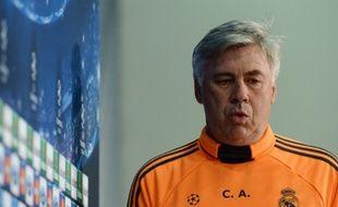 Carlo Ancelotti, l'entraîneur du Real Madrid, le 28 avril 2014, à Munich.
