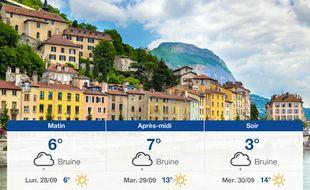 Météo Grenoble: Prévisions du dimanche 27 septembre 2020