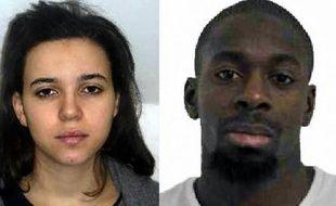 Les portraits d'Hayat Boumeddiene et Amédy Coulibaly diffusés par la police