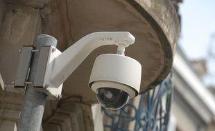 Une caméra de vidéo-surveillance dans l'Eurométropole de Strasbourg. Illustration