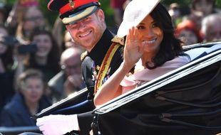 Meghan Markle et le prince Harry à Londres le 9 juin, lors de l'anniversaire officiel de la reine.