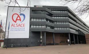 Les locaux de la Collectivité européenne d'Alsace, à Strasbourg, où sera installé le prochain vaccinodrome.