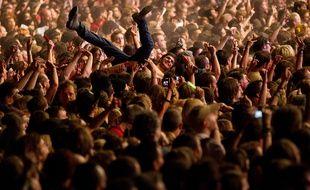 Public d'un concert, le  26 août 2012.