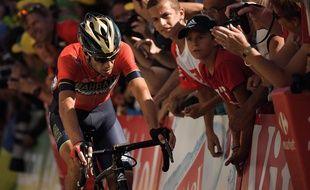 Malgré sa chute, Vincenzo Nibali était remonté sur selle pour rattraper son retard sur les hommes de tête.