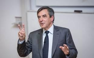 François Fillon lors d'un meeting du parti Les Republicains à Londres (Grande-Bretagne), le 17 juin 2015.