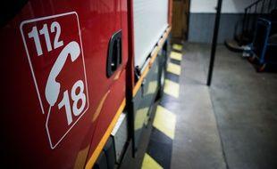 Vehicule (camion) d'intervention de pompiers.