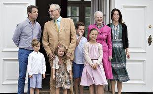 La famille royale du Danemark en juillet 2016