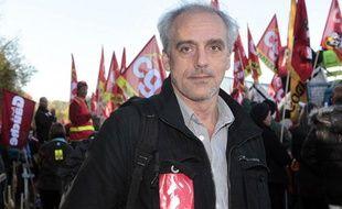 Philippe Poutou, à Condé-sur-Noireau, le 19 octobre 2011.