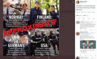 Ce mème comparant les polices nordiques et américaines a été notamment partagé par l'actrice Mia Farrow et le musicien Snoop Dogg.
