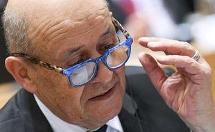 Jean-Yves Le Drian, à Bruxelles, le 10 janvier 2020.