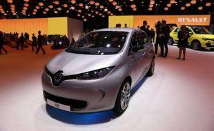 La Renault Zoé arrive en tête des ventes de voitures électriques en France, en 2014.