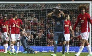 Manchester United s'est qualifié pour la finale de la Ligue Europa en éliminant l'Ajax, le 11 mai 2017.