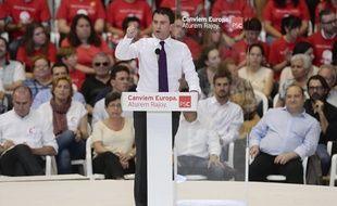 Manuel Valls en meeting de campagne pour les européennes à Barcelone, le 21 mai 2014.