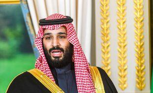 Mohammed ben Salmane a l'Elysée le 10 avril 2018.