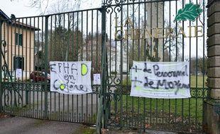 Saint Quentin Fallavier Nord Isere le 30/01/2018: Greve du personnel d EHPAD de saint quentin Fallavier pour manque de moyens.