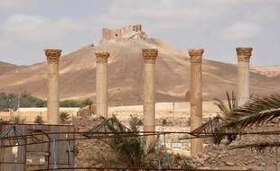 Photo de la citadelle de Palmyre en Syrie, publiée le 27 mars 2016 par l'agence Sana.