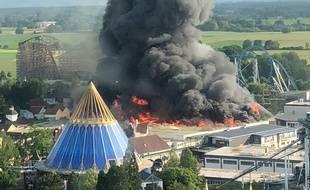 L'incendie à Europa Park le 26 mai. Illustration
