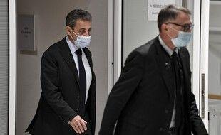 Paris, le 30 novembre 2020. Nicolas Sarkozy arrive au tribunal judiciaire de Paris où il doit être jugé pour corruption active et trafic d'influence.