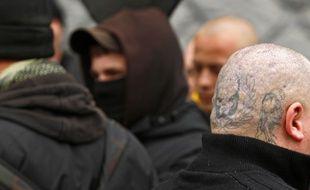 Illustration de militants d'extrême droite lors d'une manifestation à Lille en 2011.