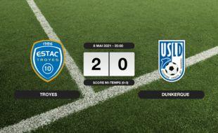 Ligue 2, 37ème journée: Succès 2-0 de Troyes face à l'USL Dunkerque
