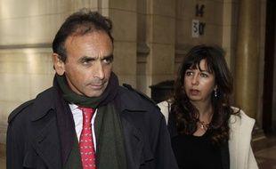 Le chroniqueur Eric Zemmour à son arrivée au tribunal de Paris, le 11 janvier 2011