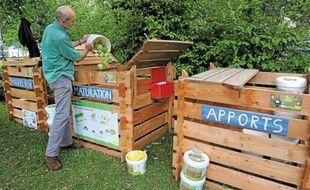 Jean-Louis Amann anime des stages sur le compostage pour les collectifs et les particuliers.