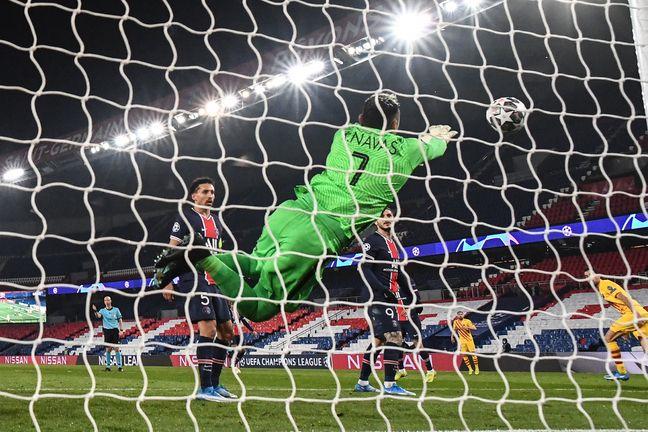 Navas en mode masterclass lors du match retour face au Barça en Ligue des champions.