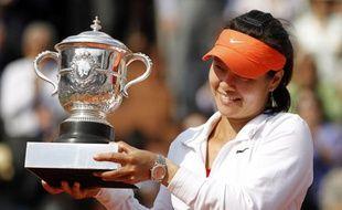 La championne de tennis chinoise Na Li, lors de sa victoire à Roland-Garros contre Francesca Schiavone en finale, le 4 juin 2011.