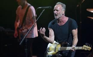 Le chanteur et musicien britannique Sting était en concert à Lyon le 17 juillet 2019. Illustration.