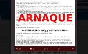 Capture d'écran du message de prévention diffusé par la police nationale sur les réseaux sociaux.