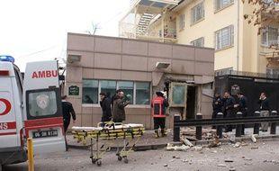 L'ambassade américaine en Turquie, à Ankara, a été frappée par une bombe, le 1er février 2013.