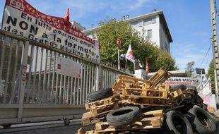 Marseille, le 10 octobre 2014, les ouvriers occupent les Moulins Maurel.