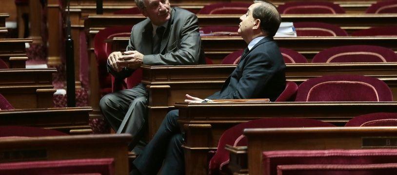 Sénatoriales: Quels sont les enjeux du scrutin en Lorraine? Gérard Longuet (LR, à gauche sur la photo) est une nouvelle fois candidat dans la Meuse. (Archives)