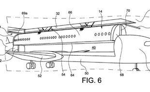 L'un des croquis accompagnant la demande de brevet d'Airbus, approuvée le 24 novembre 2015 par l'instance américaine chargée d'émettre des brevets et des marques déposées aux États-Unis, le United States Patent and Trademark Office.