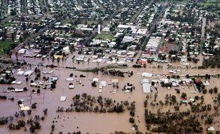 La ville de Chinchilla, dans l'Etat du Queensland, en Australie, touchée par d'importantes inondations, le 29 décembre 2010.