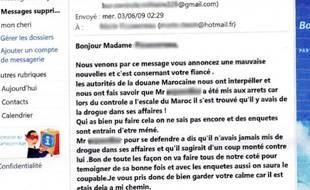 Capture d'écran de l'un des nombreux emails reçus par Marie.