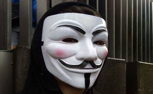 Un masque d'anonymous (illustration)
