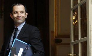 Le ministre de l'Education nationale Benoit Hamon à Matignon, le 15 mai 2014