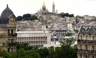 Vue sur le Sacré-Coeur à Paris en 2009.
