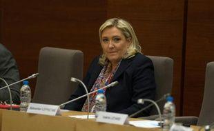 La présidente du Front national Marine Le Pen, le 4 janvier 2016 à Lille
