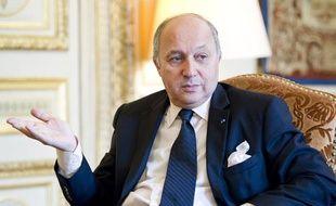 Laurent Fabius, ministre des Affaires étrangères, en interview dans son bureau du Quai d'Orsay, le 19 février 2013.