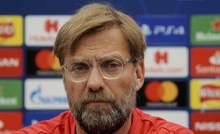 Jürgen Klopp, l'entraîneur de Liverpool, le 28 mai,  lors de la conférence de presse avant la finale de la Ligue des Champions.