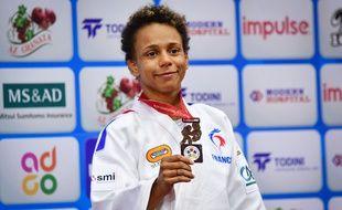 Amandine Buchard aux championnats du monde de Bakou.
