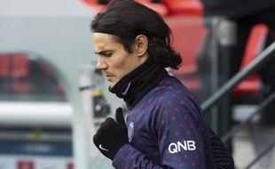 Edinson Cavani sera peut-être sur le banc lors du 8e de finale retour de Ligue des champions entre le PSG et Manchester United.