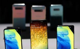Samsung présente ses nouveaux modèles de smartphones, le 20 février 2019.