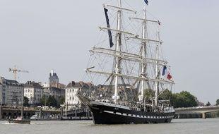 Le Belem à Nantes le 25 juin 2017.