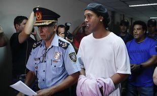 Ronaldinho au Palais de justice de Asunción, le 7 mars 2020.